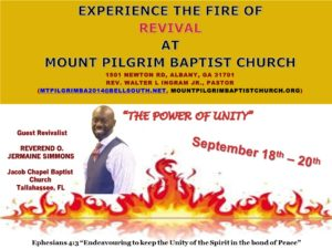 Annual Fall Revival @ Mt. Pilgrim Baptist Church