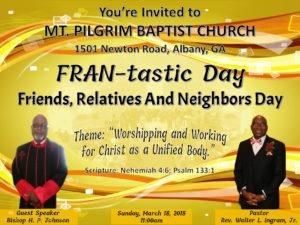 FRAN-tastic Day 2018 @ Mt. Pilgrim Baptist Church