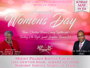 Annual Women's Day @ Mt. Pilgrim Baptist Church